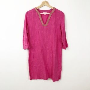 Lilly Pulitzer Pink & Gold Beach Dress, size Small